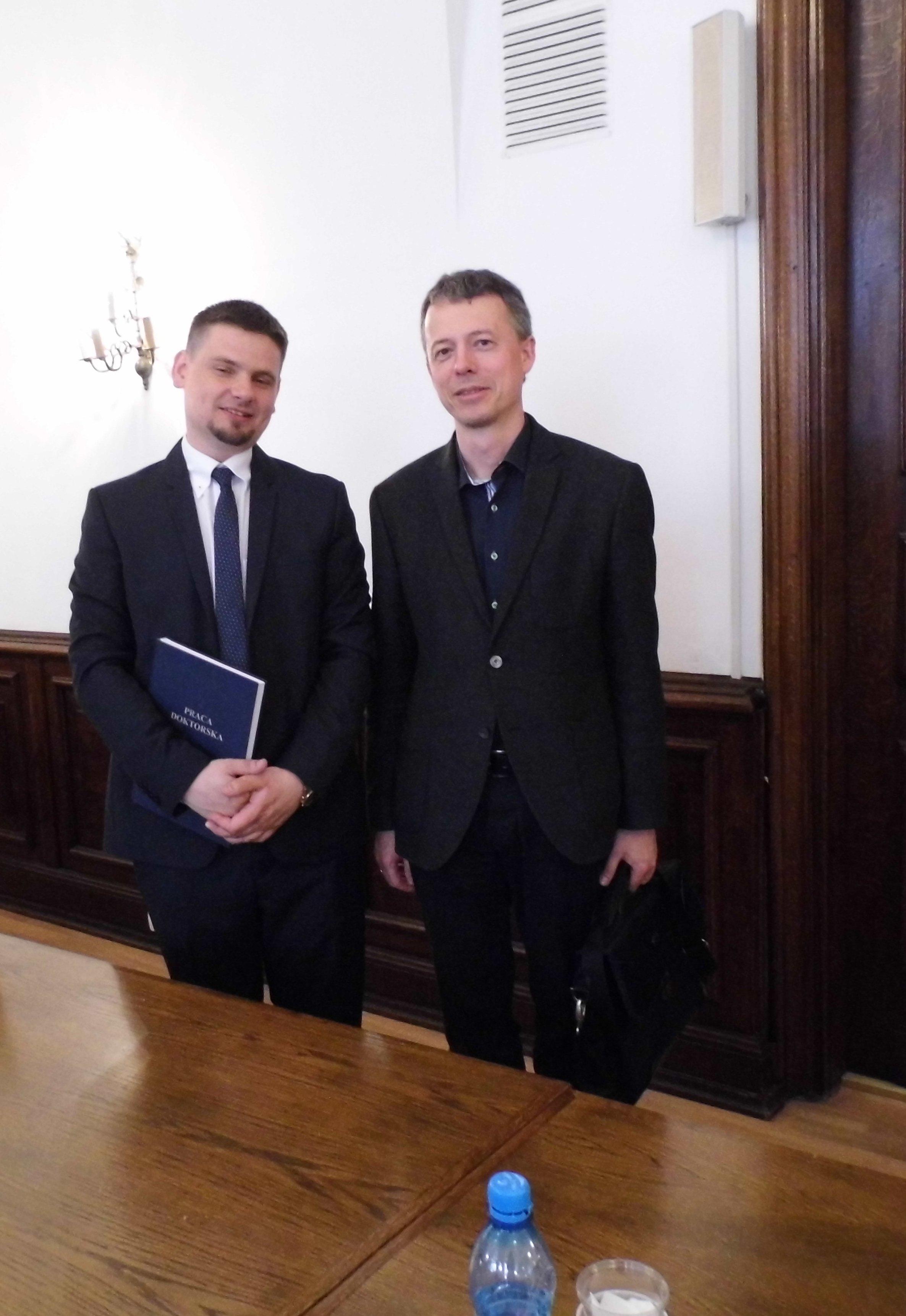 autor pracy Michał Mazur oraz prof. R. Szarfenberg